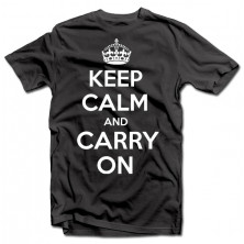 "T-krekls ""KEEP CALM AND CARRY ON"""