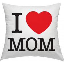 "Spilvendrāna ""I love mom"""