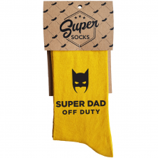 "Zeķes ""Super Dad Off Duty"""