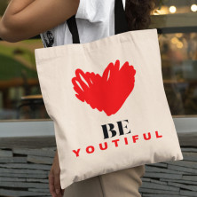"Kokvilnas maisiņš ""Be Youtiful """