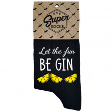 """Zeķes """"Let the fun BE GIN"""""""