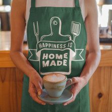 "Kokvilnas priekšauts ""Happiness is home made"""