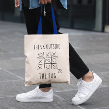 "Kokvilnas iepirkuma maisiņš ""Think outside the bag"""